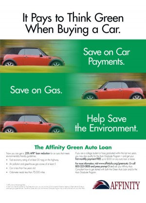 Affinity – Green Checking Ad