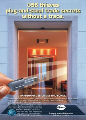 Pfizer – Internal information protection poster campaign